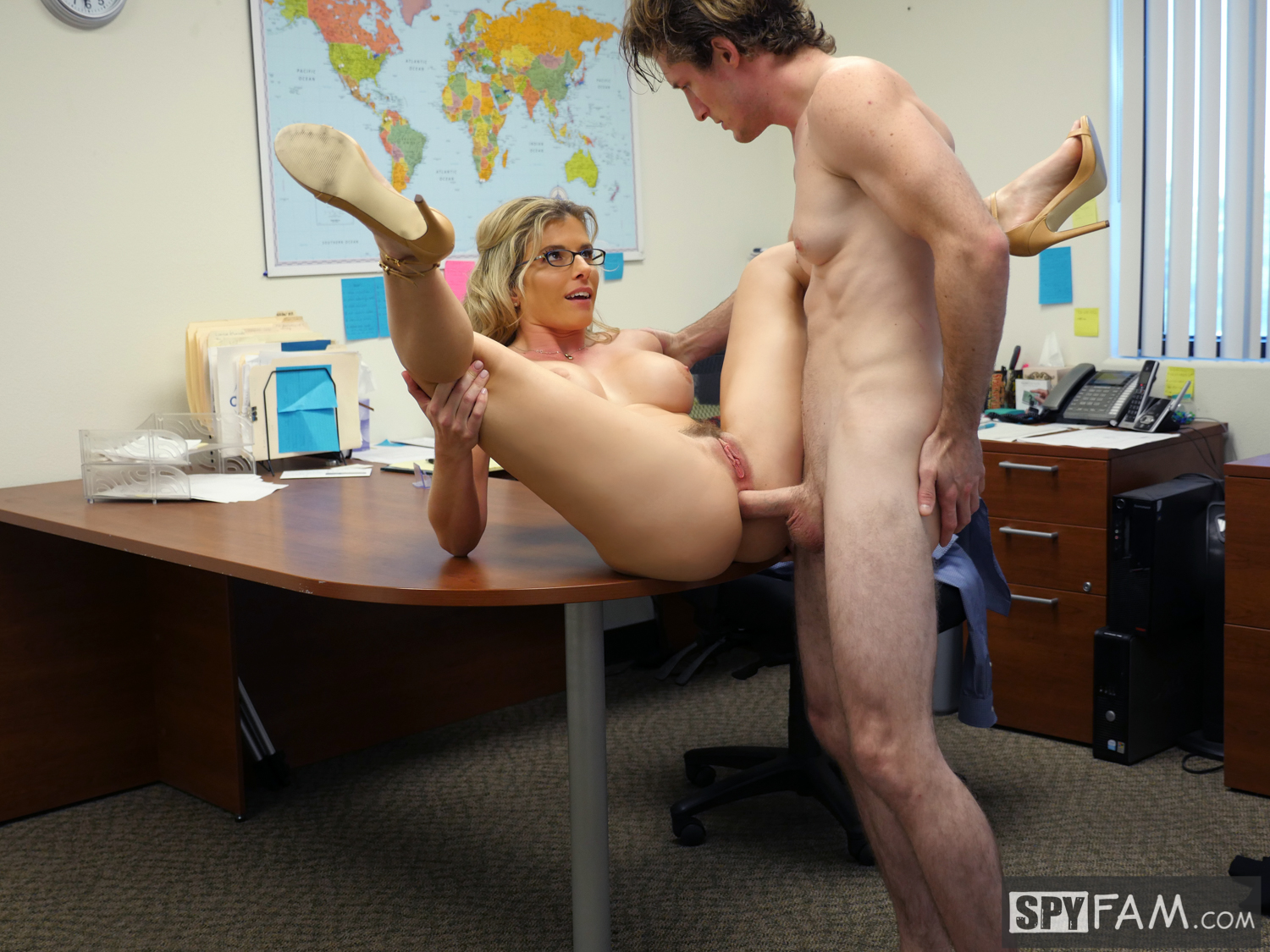 Step mom fucks son bareback and begs for creampie