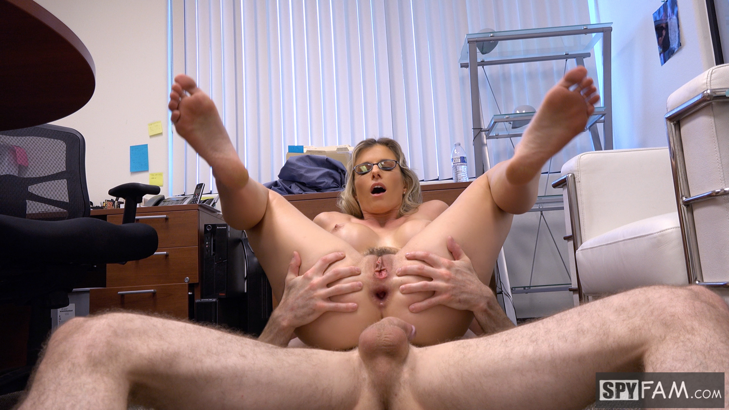 Spyfam step son office anal fuck with step mom cory chase 5