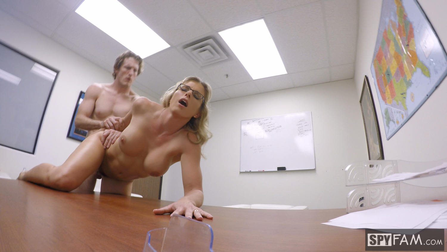 Spyfam step son office anal fuck with step mom cory chase 8